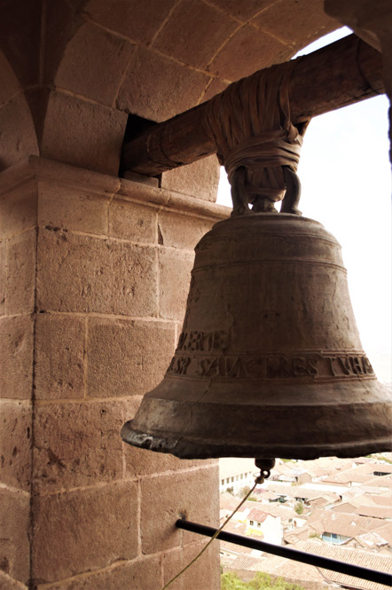 A bell from the San Cristobal bell tower.