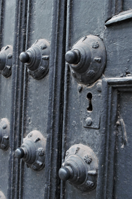 Cathedral doors detail.