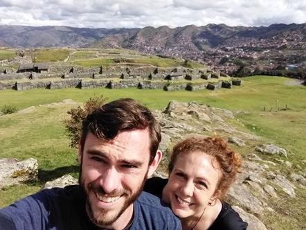Emily and I at Sacsayhuaman.