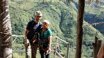 Emily and I before ziplining.