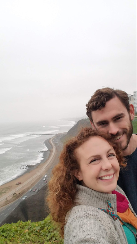 Emily and I by the cliffs of Lima.