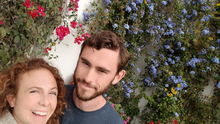 Emily and I on the grounds of Museo Larco.
