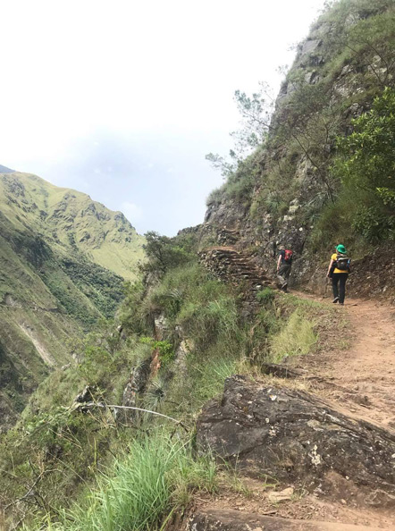Emily and I hiking the Inca Trail. Photo credit to Guillermo.