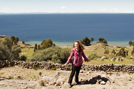 Emily at Taquile Island.