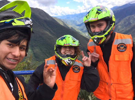 Guillermo (our guide), Emily, and I before heading down the mountain. Instead of cheese, they go sexy llamas.