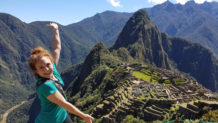 Emily presents Machu Picchu.