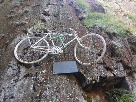 Carlos Nordt's ghost bike.