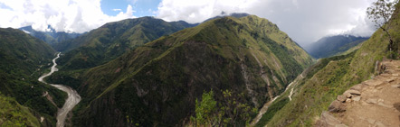 A panorama of the view from the Inca Trail.