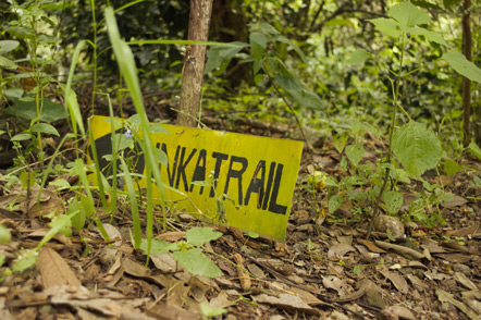 A sign for the Inka Trail