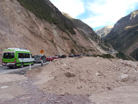 Landslides blocking the road aren't uncommon.