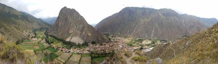 A panorama of Ollantaytambo.
