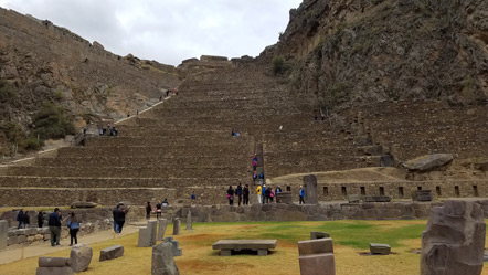 The terraces of Ollantaytambo.