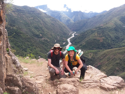 Emily and I on the Inca Trail.
