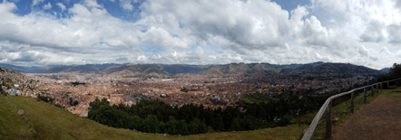 Panorama of Cusco from Sacsayhuaman.