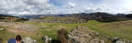 Panorama of Sacsayhuaman from The Slides.