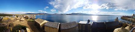 Panorama of the Uros Aruma Uro.