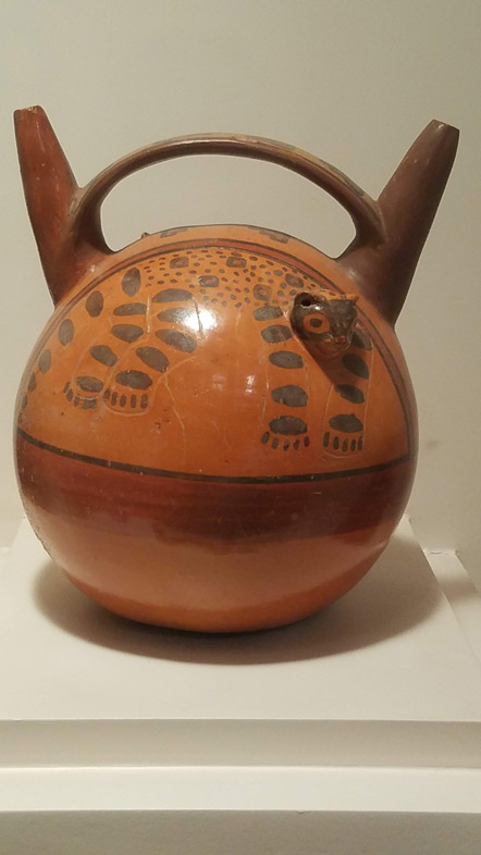 Ceremonial vessel decorated with a puma.