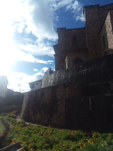 A view of the Incan wall.