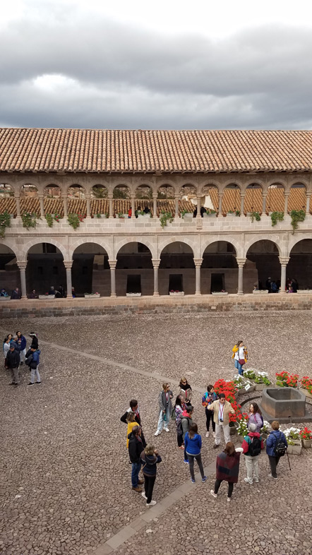 Spanish architecture in the square.