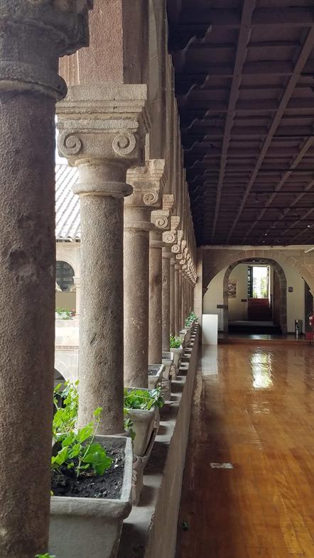 Spanish columns at the Qorikancha.