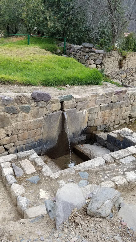 The Inca would use this stream of water to ritually purify himself before religious ceremonies.