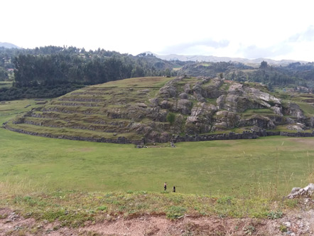 The slides are a large mound in the middle of the complex with very smooth rock formations. It is theorized that they used the slides to smooth the rocks used in building Sacsayhuaman.