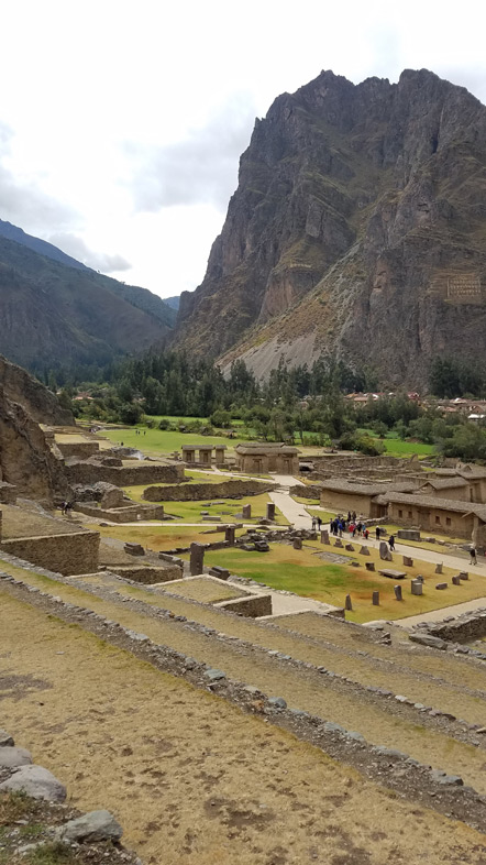 The view from Ollantaytambo's terraces.