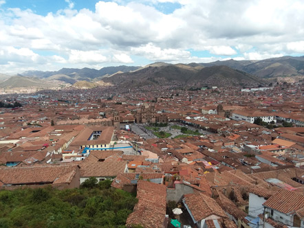 The view of Cusco from the bell tower of San Cristobal.